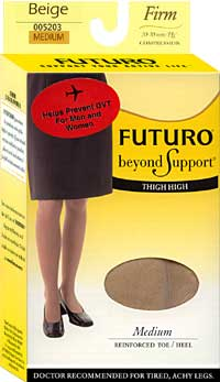 Medical Stockings: Futuro Therapeutic Support Thigh Highs Reinforced Toe (size 76Kb)