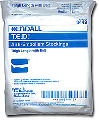 Anti-Embolism: Kendall T.E.D. Anti-Embolism Thigh Length with Belt (size 58Kb)