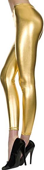 Legging / Footless: Music Legs Metallic Shiny Footless Tights (size 14Kb)
