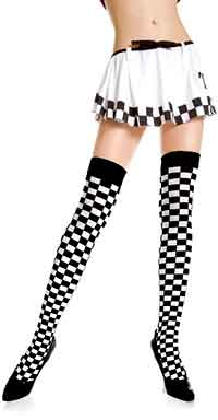 Music Legs Opaque Checker Thigh Hi (size 11Kb)