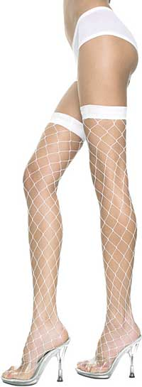 Fishnet Stockings: Music Legs Lycra Big Diamond Net Thigh Hi (size 20Kb)