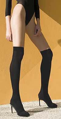 Over the Knee: Music Legs Opaque Over The Knee (size 27Kb)