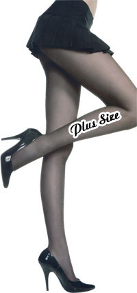 Music Legs Sheer Crotchless Pantyhose Plus Size (size 21Kb)