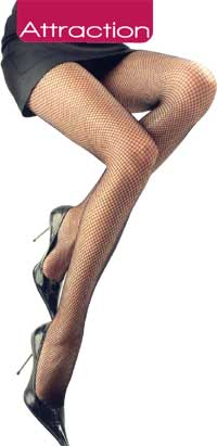 Fishnet Pantyhose: Intimidea Attraction Rete Collant (size 65Kb)