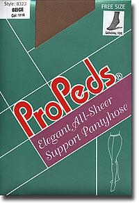 Sheer Pantyhose: Propeds All Sheer-Waist Full Support P/H 20d (size 57Kb)