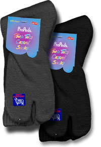 Calf Highs: Propeds Two Toes Wollen Socks with Heel (size 86Kb)